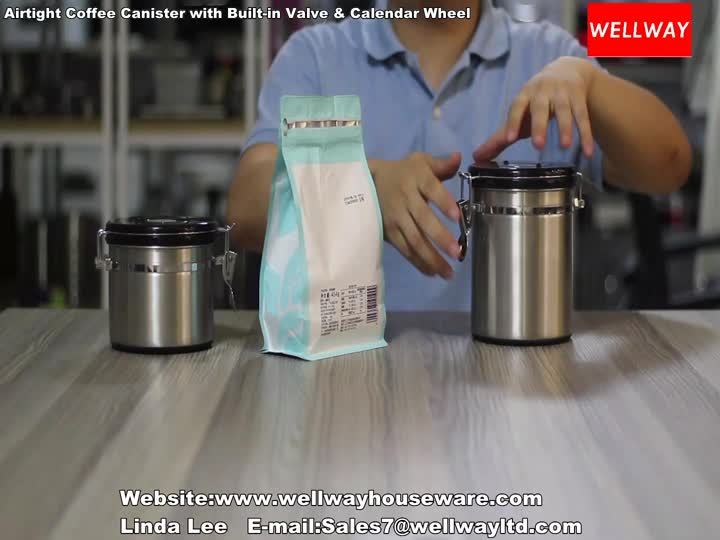 Airtight Coffee Canister with Built-in Valve & Calendar Wheel.mp4