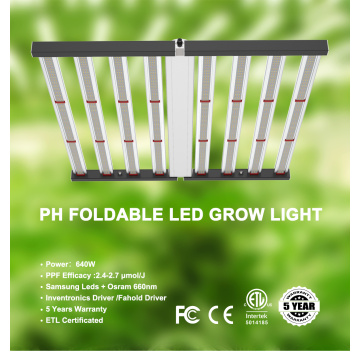PHLIZON 640W Foldable LED Grow Light Bars