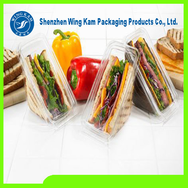 food grade plastic beautiful cake boxes packing with factory price