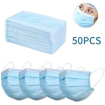 50PCS Disposable Mouth Cover,3-Ply Face Mouth Cover