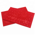 Rolls of velour embossed mat for market
