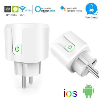 WIFI Wireless Remote Socket EU Plug Smart Timer Plug EU Smart Life Voice Control Home Fire Retardant PC Smart Power Socket