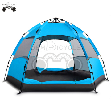 double door orange camping tent for 5-8 person