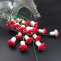 10pcs Mini Foam Mushroom Artificial Plant Flowers For Wedding Fungus Decoration DIY Wreath Gift Scrapbooking Craft Bacterium