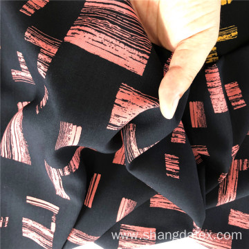 Rayon Demi Satin Printed With  Square Design