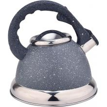 Grey Stainless Steel Whistling Teapot