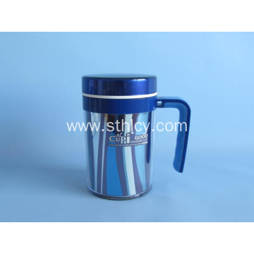 Double Stainless Steel With Handle Cup Office Mug