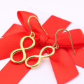 Simple Wedding Jewelry Rose Gold Infinity Earrings