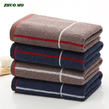 ZHUO MO New 40*90 cm Towel 100% Cotton Blue coffee Large size Towel for home Bathroom Quick dry for adults sport Gym Towels