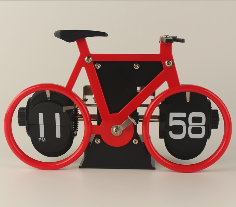 Small Bicycle Flip Clock