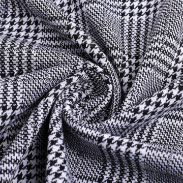High Quality Knitted Polyester Plaid Jacquard Fabrics