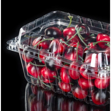 Transparent plastic cherry packaging box