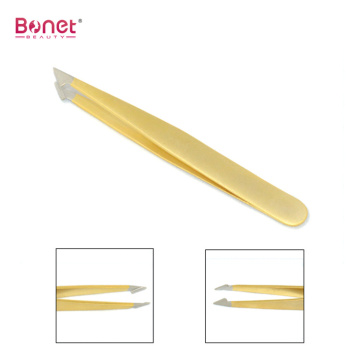 Shining Colourful-powder Spray Coating Slanted Tweezers