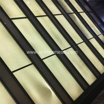 Painted Expanded Metal Mesh Panel Fence