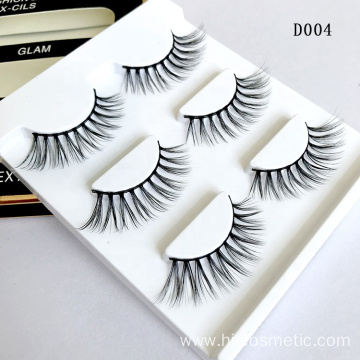 Factory Direct Supply Private Label Fake Eyelashes Wholesale Cheap Eyelashes Mink Natural Looking 3D Mink Eyelashes