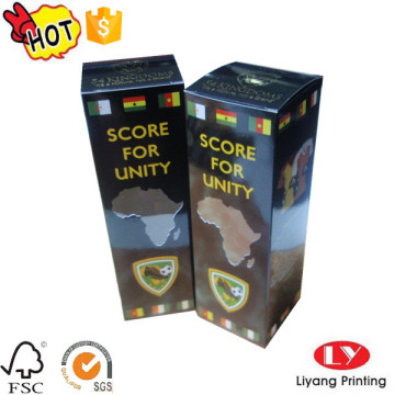 Products packaging glossy paper box with logo