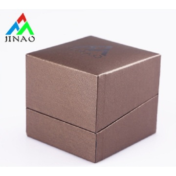 Custom made PU leather ring packaging box