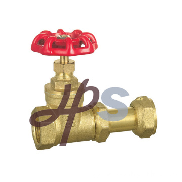 hot forging brass gate valve with female thread for water meter