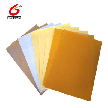 Single side silicone coated havanna glassine release paper