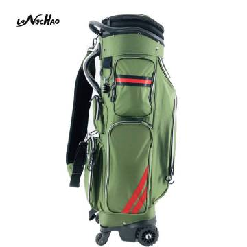 Latest design Customized Nylon Golf Staff Bag with Wheels