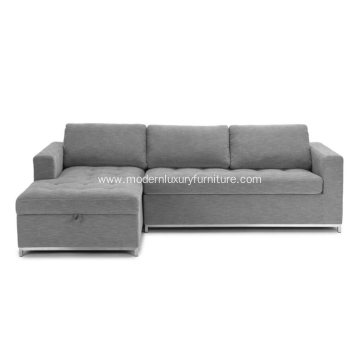 Soma Dawn Gray Left Sectional Sofa Bed