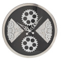 Black Wall Hanging Gear Wall Clocks for Decoration