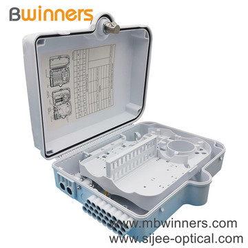 1X8 24 Core Ftth Plc Fiber Splitter Outdoor Distribution Box Fiber Junction Box