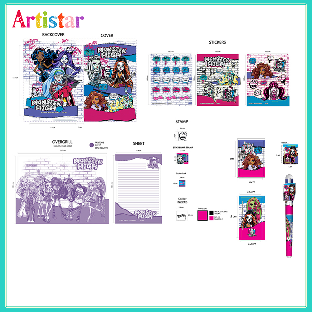 Monster High Carry Art Set 2