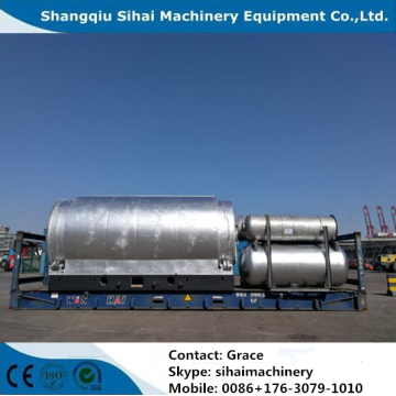 Waste Tire Pyrolysis Plant With High Oil Yield