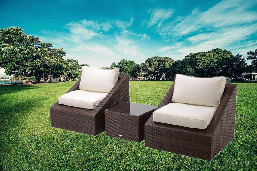 hall 3pc rattan chat sets