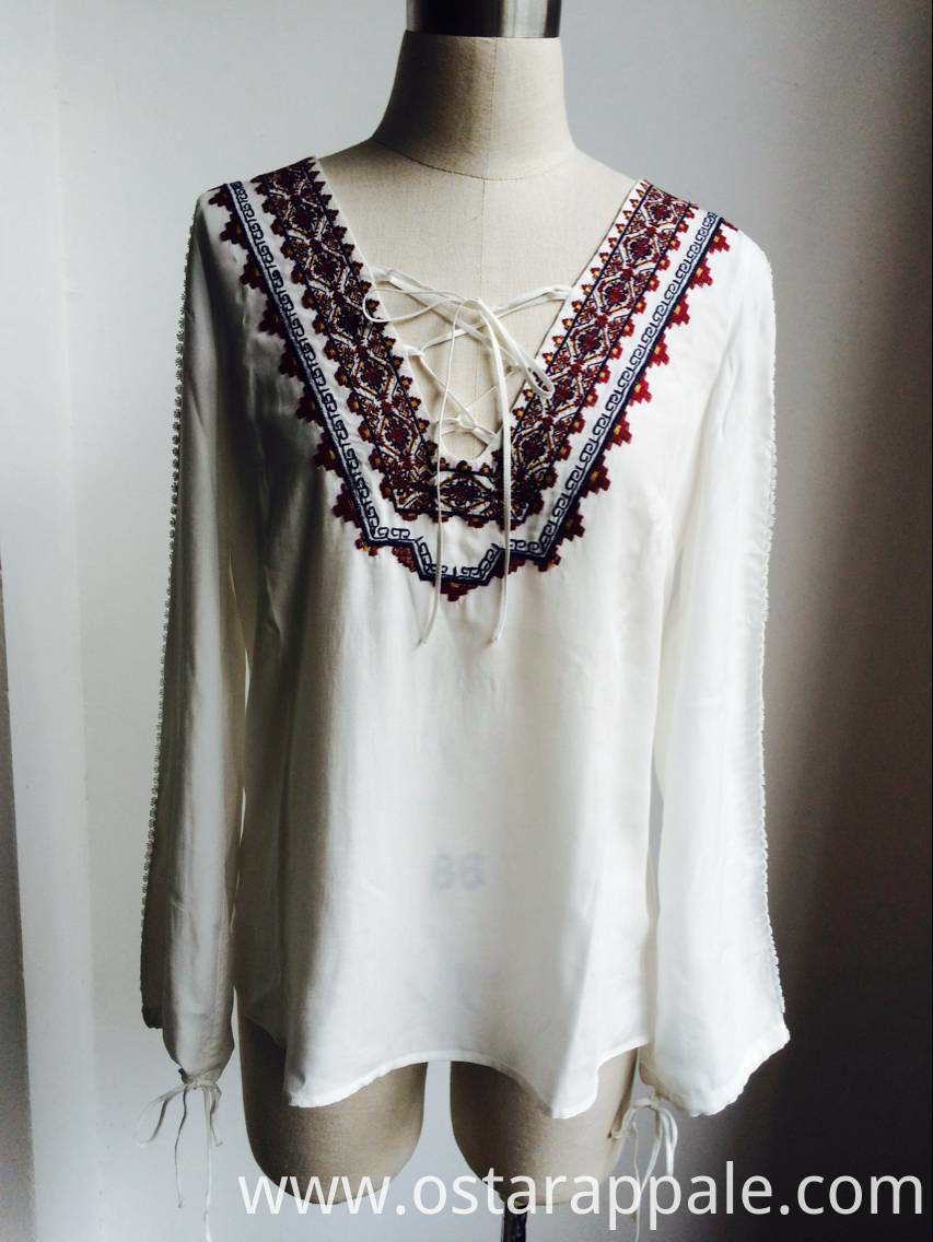 Viscose Cotton Embroidery Blouse
