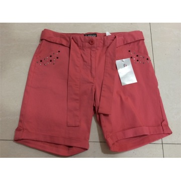 Lady's Casual Pant With Iron Stone