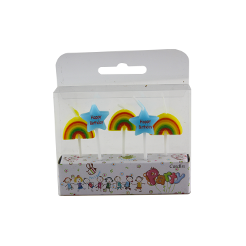 Candle Factory Colorful Star Shape Rainbow Shape Candle