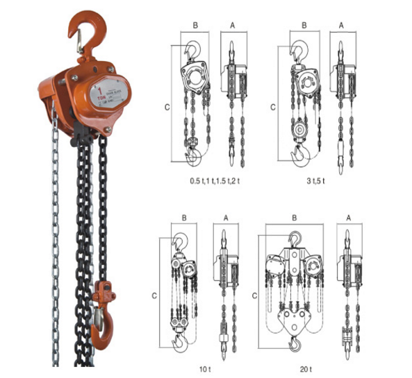 3ton pulley chain block