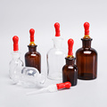 Glass  Lab Reagent Bottle with Dropper