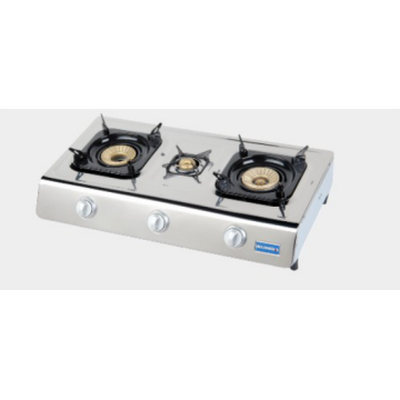 3 Burner Gas Cooking Table with CE Certification