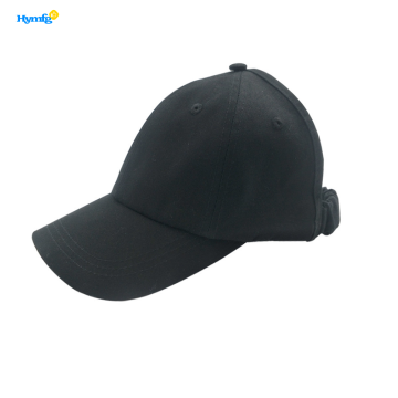 Black Color Cotton Hat Baseball Caps