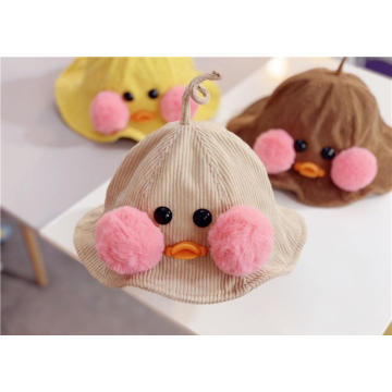 Corduroy material winter baby bucket hat