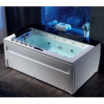 Luxury Acrylic Whirlpool Bathtub with Colorful LED