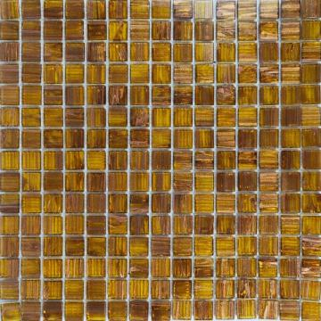 Gold line Amber brown elegant glass mosaic tiles