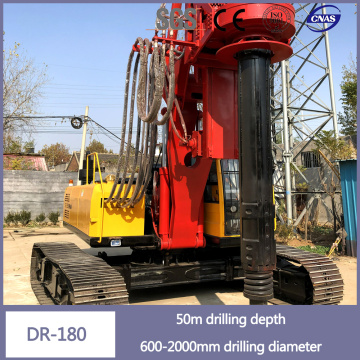 Crawler Type Diesel Engines Boring Hole Drilling Rig