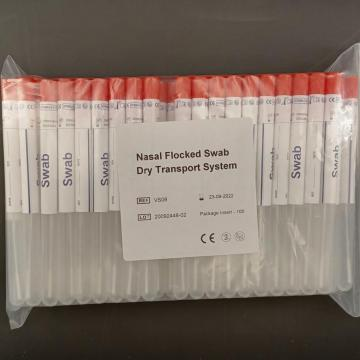 Dry Transport System- Flocked Swab for Throat