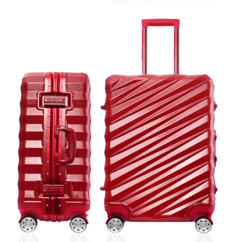 Red fashion luggage