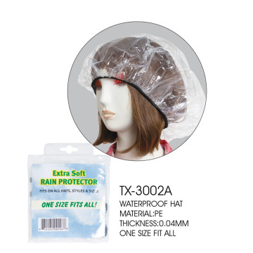 Plastic waterproof PE rain hat