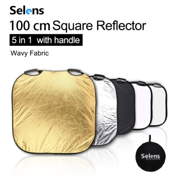 Selens 100CM 5 in 1 Reflector Photography Portable Light Reflector with Carring Case for photography photo studio accessories