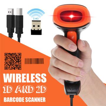 2.4G 1D/2D Barcode Scanner Portable USB Wireless Handheld Laser Light Scanner For Supermarket Store Win XP/7/8/10 laptop PC POS