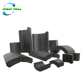Customized Ferrite Material Arc Magnets for starter motor