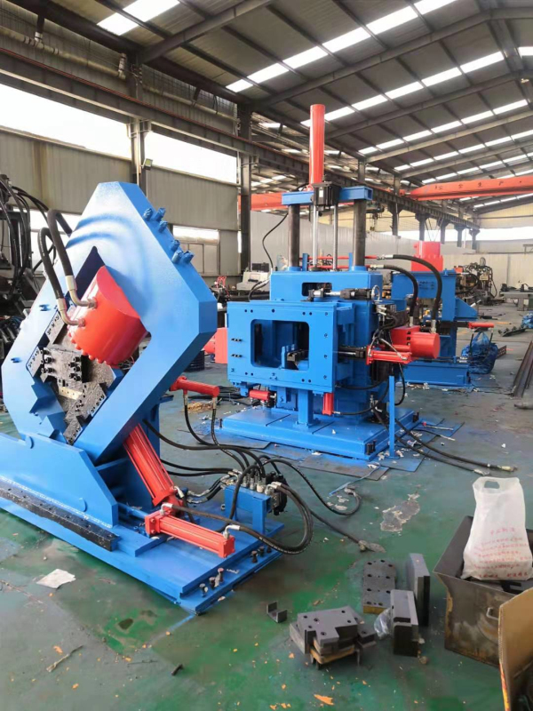 CNC Angle/Channel/Band Steel Punching Shearing Line