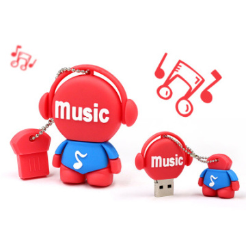 metal Music Small doll USB Flash drive