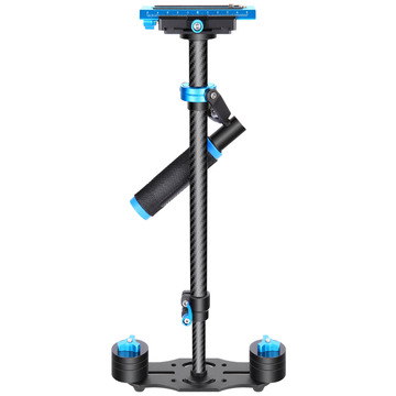 Neewer Carbon Fiber 24 inches/60 cm Handheld Stabilizer 1/4 3/8 inch Screw Quick Shoe Plate for Canon/Nikon/Sony